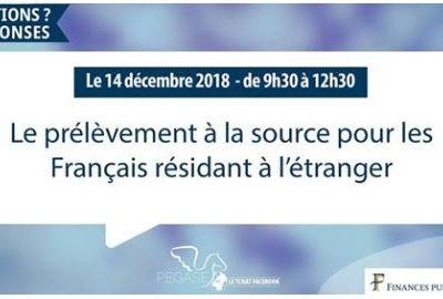 Le prélèvement à la source pour les Français de l'étranger : tchat Facebook le 14 décembre
