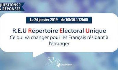 Tchat sur le Répertoire électoral unique le 24 janvier prochain