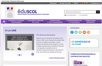 Eduscol : Informer et accompagner les professionnels de l'Education