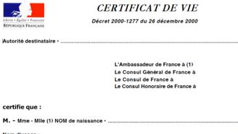 Envoi du certificat de vie : démarche simplifiée