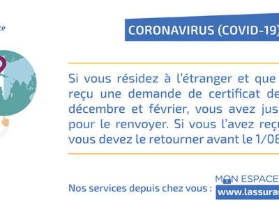 Covid-19 : De nouveaux délais pour l'envoi des certificats de vie pour les retraités qui vivent à l'étranger