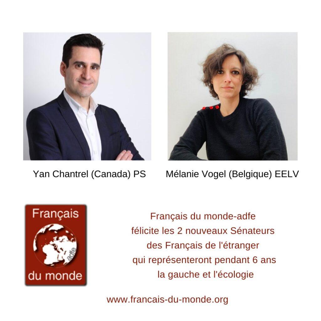 Yan Chantrel et Mélanie Vogel, sénateurs